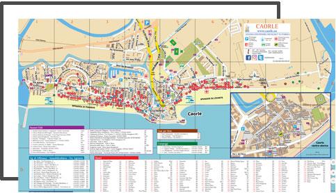 Cartina Spiagge Veneto.Mappa Topografica Caorle Caorle Portale Turistico