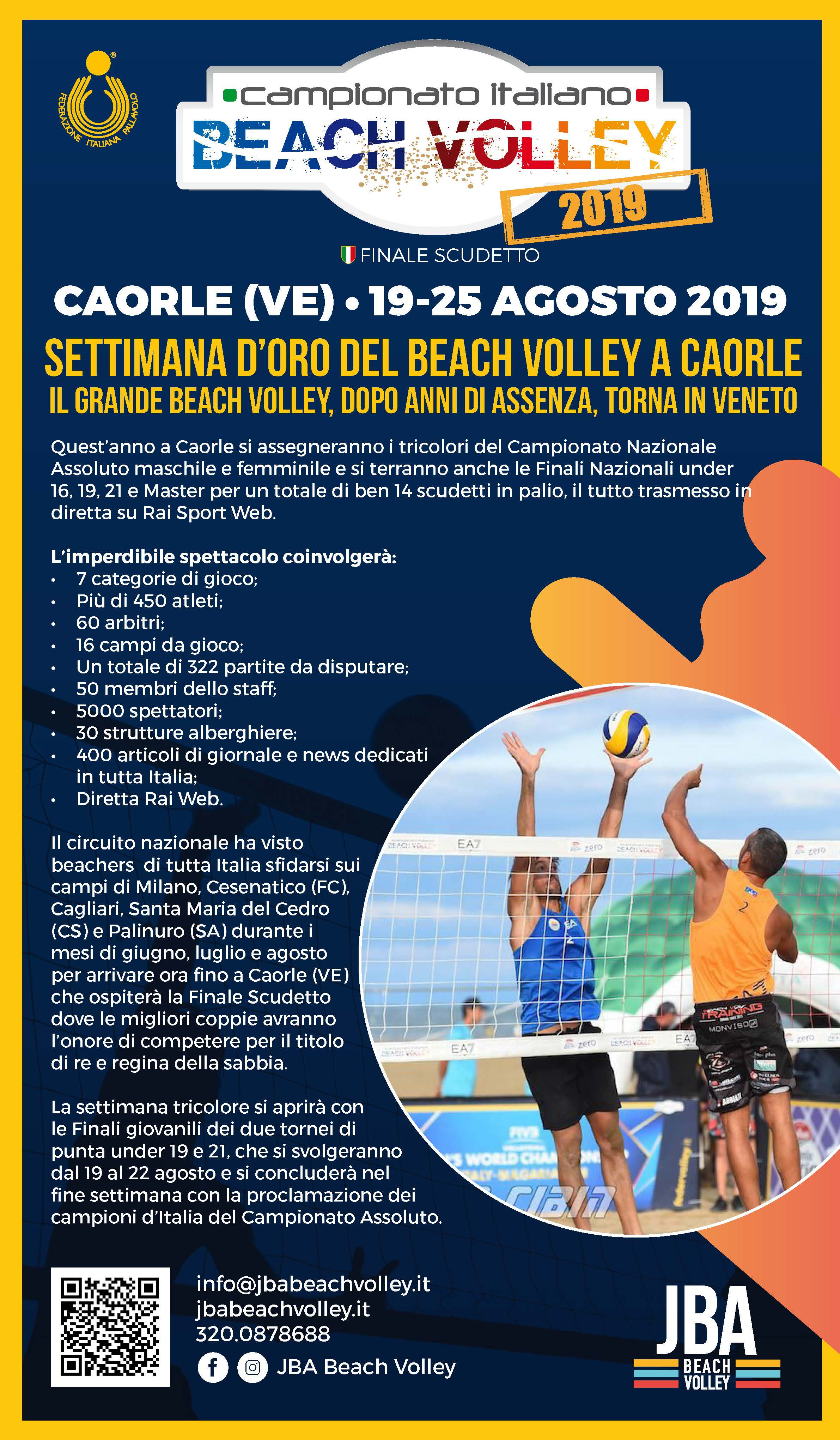 Locandina beach volley 2019